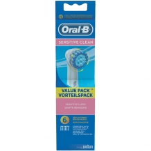 Oral B Opzetborstels Sensitive Clean 6 Stuks