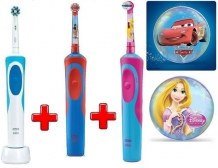 Oral-B PRO Vitality Cross Action + Cars Body + Princess Body