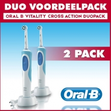 Oral B Vitality Plus Cross Action Elektrische tandenborstels - 2 stuks