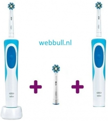Oral-B Vitality Cross Action + Extra body + Opzetborstels - Blauw